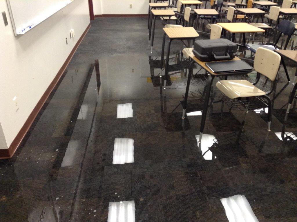 School water emergency flooding